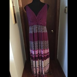 Soma Purple Maxi Dress Size Medium